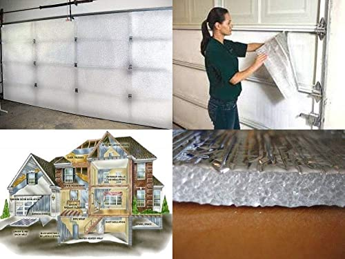 NASA TECH White Reflective Foam Core 2 Car Garage Door Insulation Kit